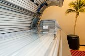foto of sunburn  - Tanning Bed Solarium At Healthy Club Spa