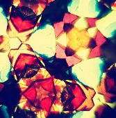 picture of kaleidoscope  - Macro image of colorful vintage kaleidoscope flowers - JPG