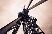 stock photo of shale  - Oil Drilling Rig - JPG