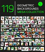 picture of geometric shapes  - Huge mega collection of 119 geometric shape abstract backgrounds - JPG