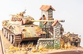 Miniature with german tank
