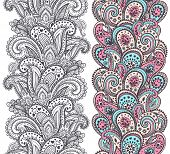 Beautiful Indian paisley ornaments