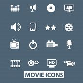 movie icons set. vector