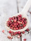 Cooking Spoon With Pink Peppercorns