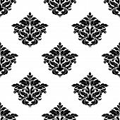 Black and white foliate motif