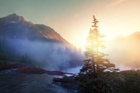 image of landforms  - Glacier National Park - JPG
