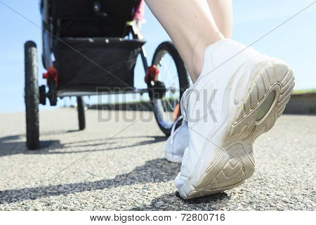 shoes view training mother baby jogging