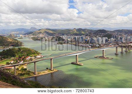 Third Bridge (terceira Ponte), Panoramic View Of Vitoria, Vila Velha, Brazil