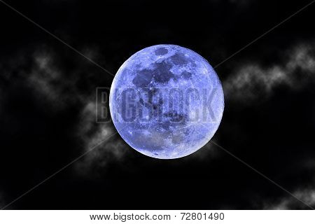 Blue Moon And Clouds