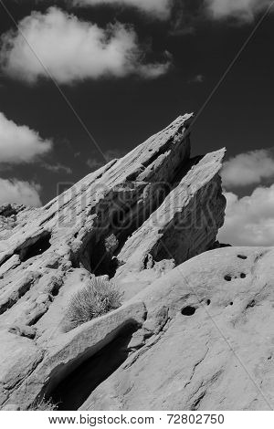 Vasquez Rocks Natural Area Park In Black And White