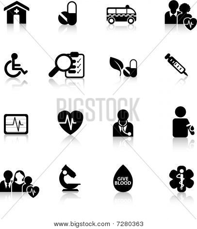 Medical Buttons Silhouette
