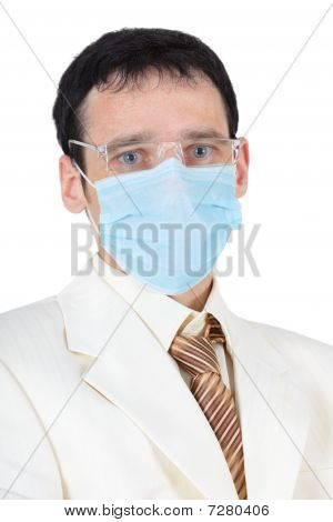 Businessman In Medical Mask