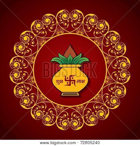 vector illustration of Creative Diwali greeting card