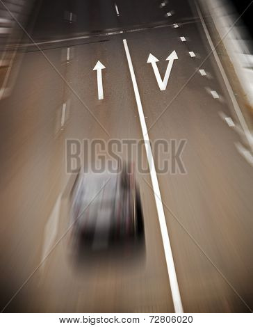Road Arrows Blur