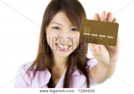 Cartão de crédito.