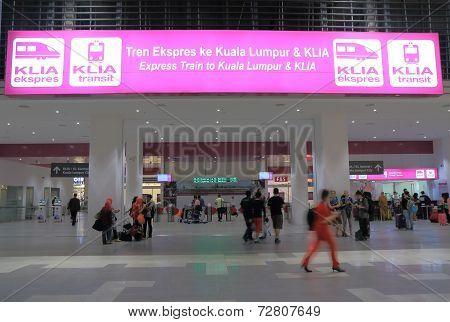 KLIA ekspres station Kuala Lumpur