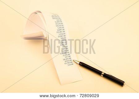 Printout Paper Rolls In Sepia Tone