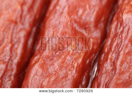 Background Of Tasty Sausages