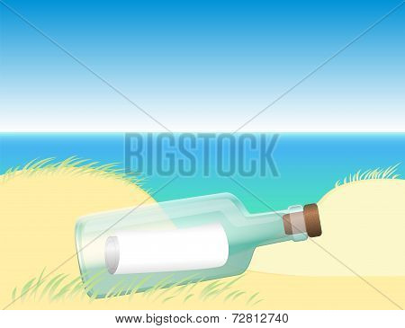 Message in a bottle beach