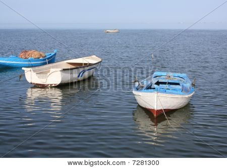 Fishing boats in the old harbor
