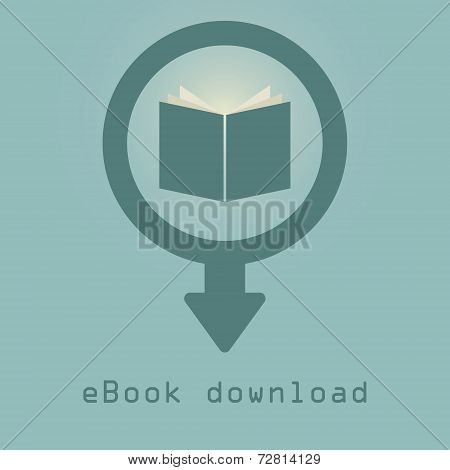 Downloading E-books Icon
