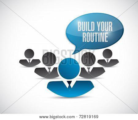 Teamwork. Build Your Routine Illustration Design