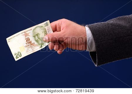 Twenty Turkish Liras Bill