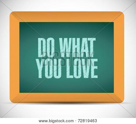 Do What You Love Message Illustration Design