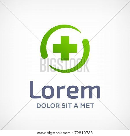 Abstract design template logo icon with cross