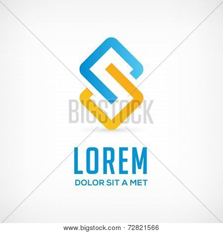 Abstract business logo icon with letter S