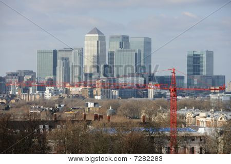 Canary Wharf, The Other Financial Business District In London, England, Uk, Europe