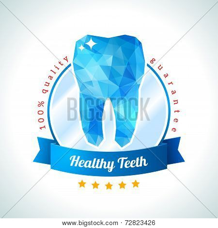Quality and guarantee label for dentistry.