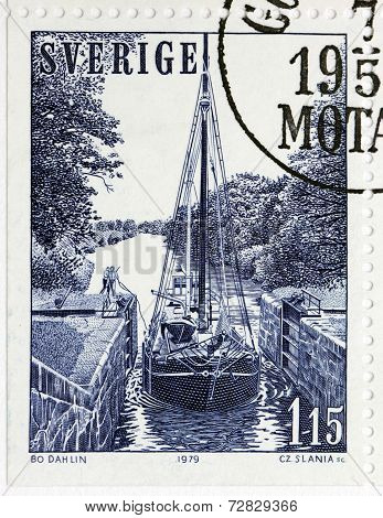 Sailing Boat In Lock