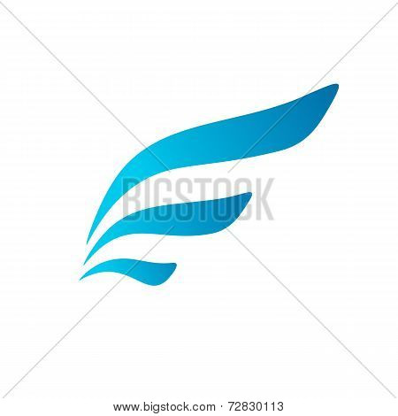 Letter E wing flag logo icon design template elements. Vector color sign.