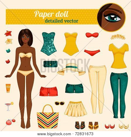 Cute dress up paper doll.