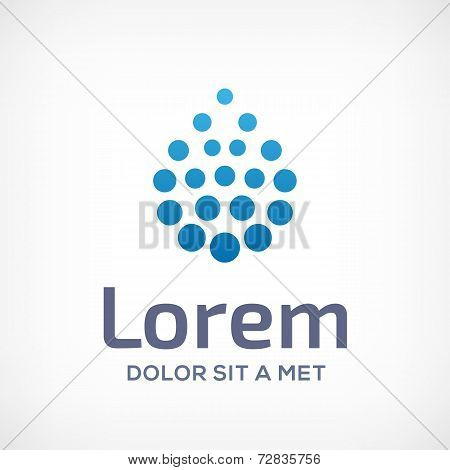Water drop symbol logo design template icon