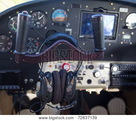 Control Panel In A Plane