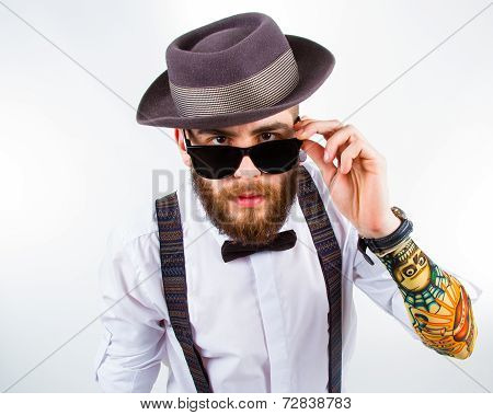 Portrait Of A Stylish Hipster