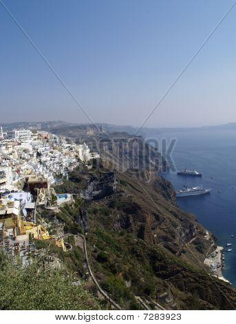 Santorini - caldera view