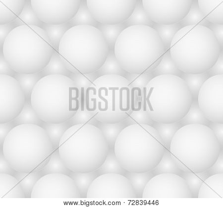 Abstract Gray Bubbles Vector Seamless Hexagonal Pattern