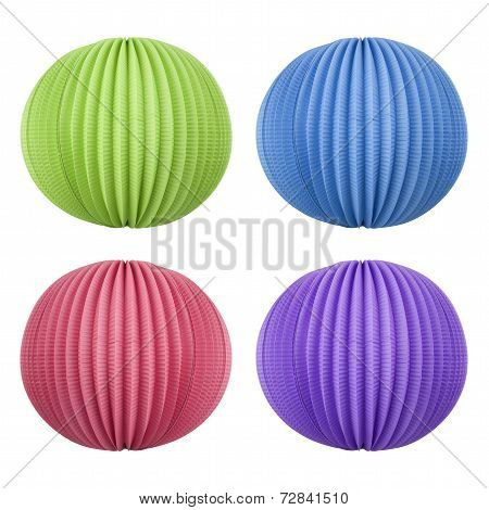 Colored Chinese Lanterns - Party Decoration