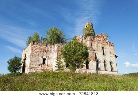 Ruins Of Old Orthodox Church