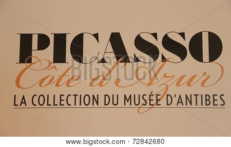 Antibes, France - 30 August 2014: Museum Panel Of Pablo Picasso