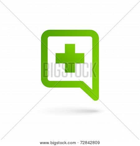 Medical logo icon design template with cross and plus. Vector sign.