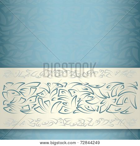 Ornamental pattern template