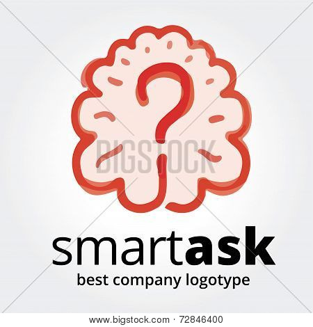 Abstract vector brain logotype concept isolated on white background