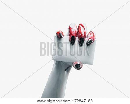 Vampire Hand With Empty Card