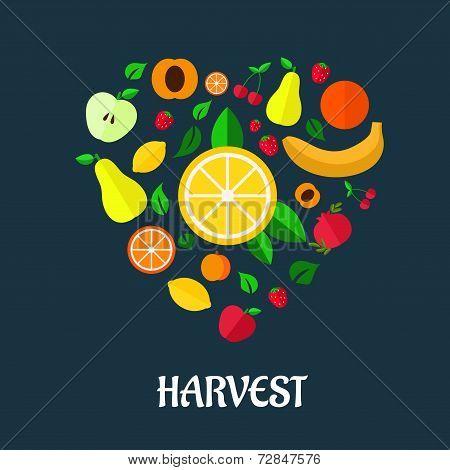 Fruits harvest flat design
