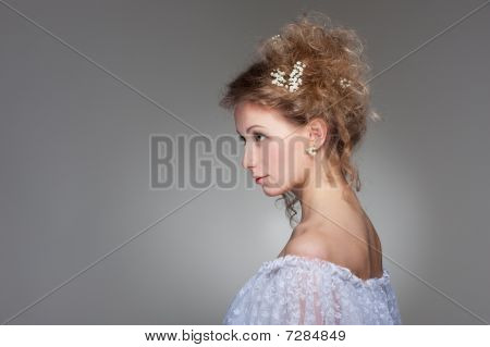 Sideview Of Beautiful Woman