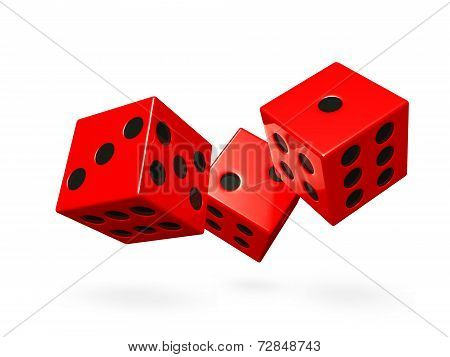 Red Rolling Game Dice